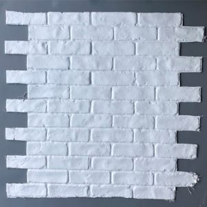 Stretcher Bond, White , BrickingIT