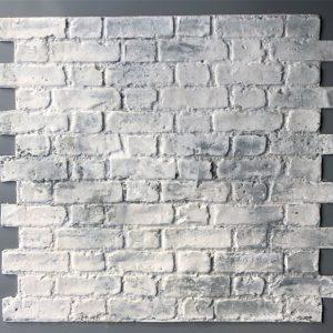 Worn Flemish Bond, Whitewash on grey, BrickingIT