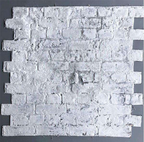 Weathered Brick, White was on grey , BrickingIT
